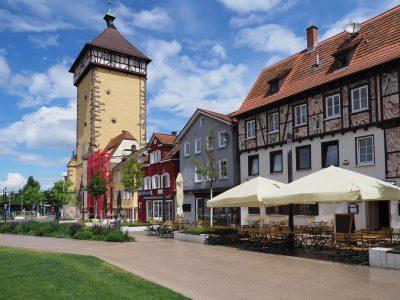 Tübinger Tor in der Altstadt von Reutlingen