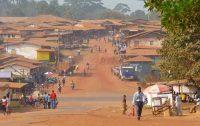 Kongo Landschaft Dorf