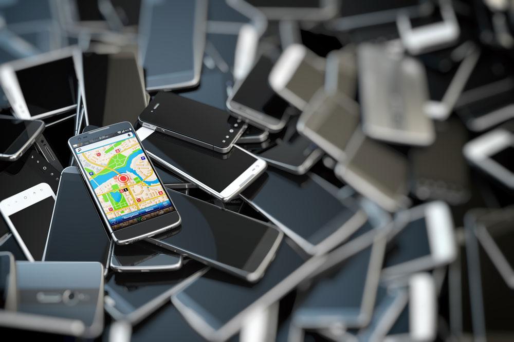 Berg ungenutzte Handys