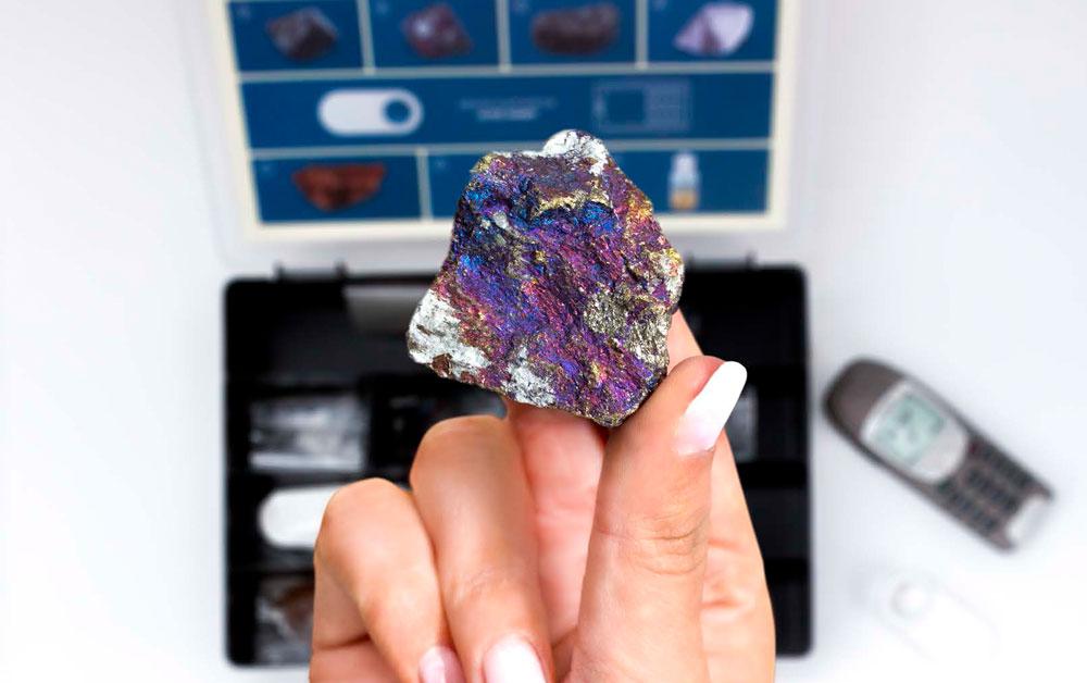 Rohstoffkoffer Detailansicht Mineral